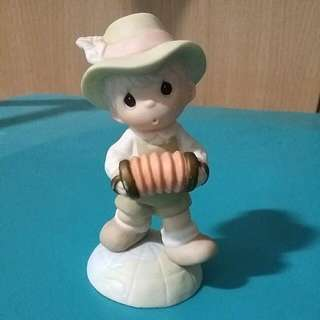 Buy 3 Get 1 Free : Precious Moments Boy With Accordion Figurine : Sure Would Love To Squeeze You