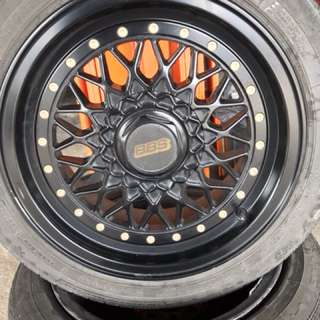 "15"" BBS rim with tyre 60%"