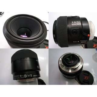 Sony α SAL50M28/AE 50mm f/2.8 Macro Prime Lens $385