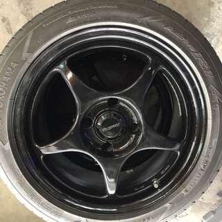"""16"""" original enkei RPO1 with tyre"""