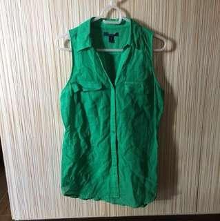 Green Sleeveles Top