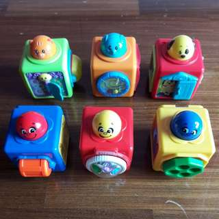 👶 Fisher Price Bright Beginnings Stacking Action Blocks With 3 Other Similar Blocks Preloved