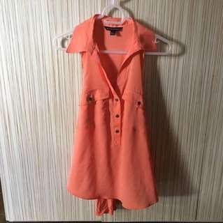 Pink Orange Sleeveless Top