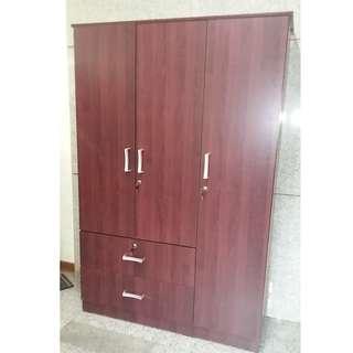 TAILEE WD-320 3 DOOR WARDROBE MAHOGANY