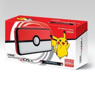 Nintendo 2DS XL Pokeball + Pokemon UltraSun