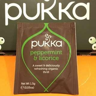 "pukka ""有機薄荷甘草茶"" 茶包一個(連本地平郵)"