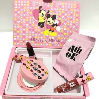 3in1 box micky mouse (BB Cushio+lipcream+lipstik+refill BB CUshion)