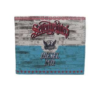 Diesel 男裝銀包(100% 正品) 現貨 NEELA SMALL - wallet X01986-PR795-H5001 天藍色