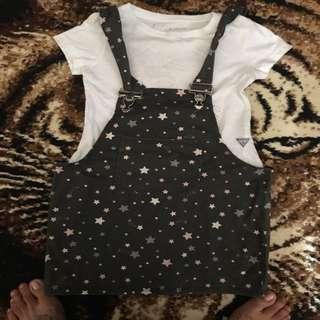 jumper skirt and guess shirt