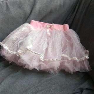 Girl Pink Ballet Skirt Bottom 女童粉紅色短裙紗裙芭蕾舞裙 5歲 6歲 7歲 5y 6y 7y 110 100 90