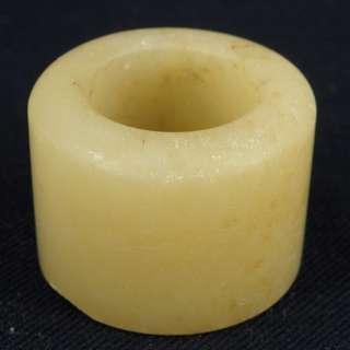 晚清-玉石扳指 (可當茶壺蓋置用)