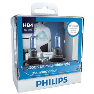 Philips HB4 9006 Diamond Vision White Light Bulbs, Pair