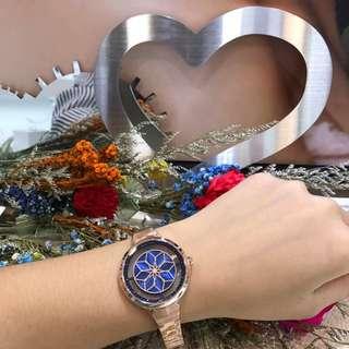 🚚 Relax 鏤空女錶 ……會轉動的花朵是秒針