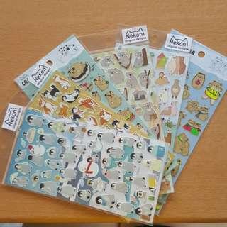 Cute Multipurpose Stickers Nekoni