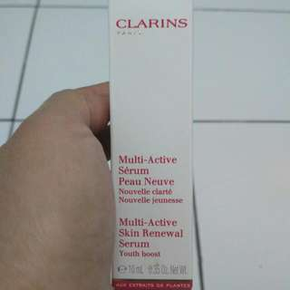 BNIB Clarins Multi Active Skin Renewal Serum - Youth Boost Travel Size 10 ml