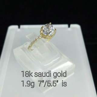 18K GOLD RING WITH RUSSIAN DIAMONDS