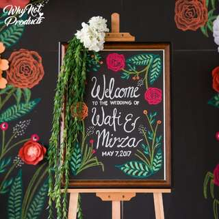 Chalk Welcome Board