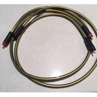 Clearer audio copper line RCA interconnect