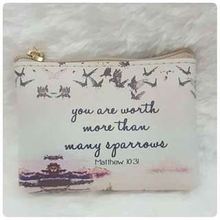 Purse (printed- Inspirational verse)