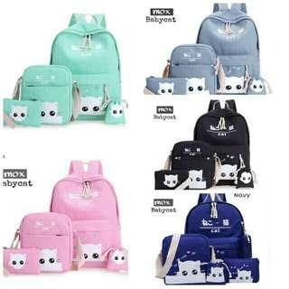 TERBAIK/tas sekolah/tas kuliah/tas serut/tas import/tas batam/murah wanita/tanah abang/WHITE CAT