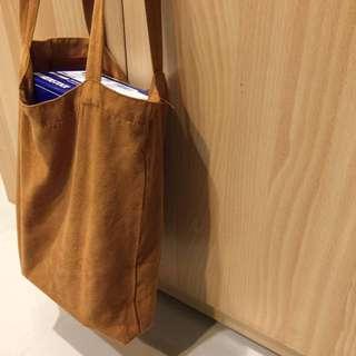麂皮材質 環保購物袋 肩背
