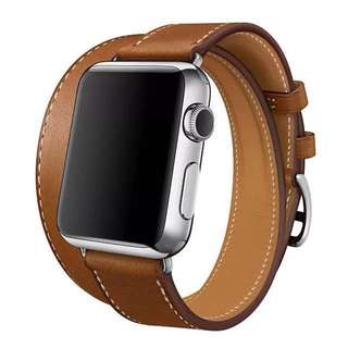 New Apple Watch double hoops HERMES style bands only 錶帶 3代啱用