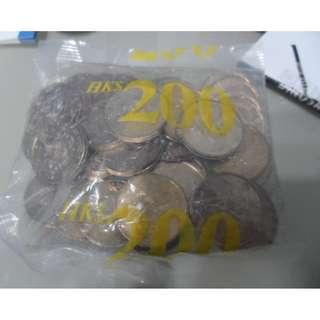 全新香港硬幣1997年回歸五元(袋有洞)<屯門取優先>