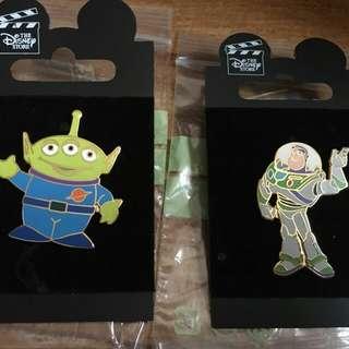Disney pin 迪士尼徽章 反斗奇兵 Toys story pin set包郵