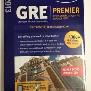 GRE Premier with 5 computer adaptive practice tests 2013 (Kaplan)