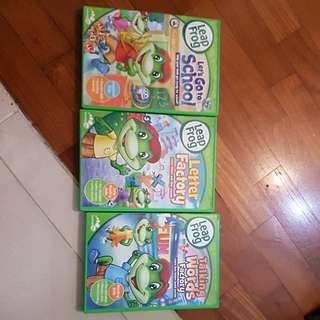 Leap Frog, 3 DVD. Value Buy