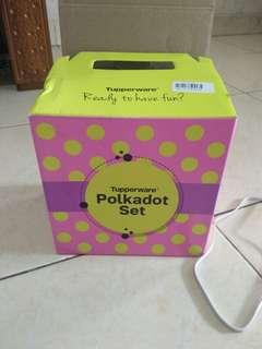 Tupperware polkadot set