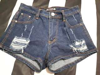 Hotpant punny jeans navy
