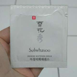 BN Sulwhasoo Snowise Whitening Serum Sample Sachet 1 ml