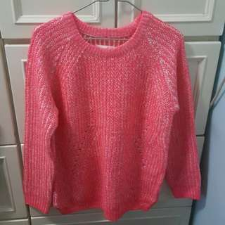 Sixty Eight 粉紅厚針織