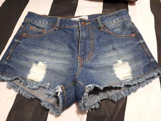 Hotpants jeans ripped blue