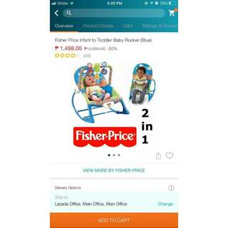 Fisher Price Infant to Toddler Baby Rocker(Blue)