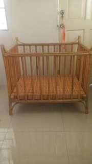 Rattan crib for sale until jan 31 only.