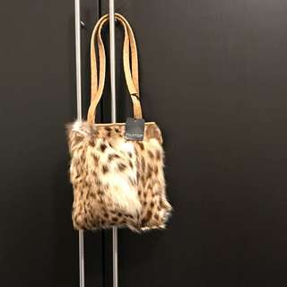 🈹Alligator Italian 狸子皮手袋 Leopard cat bag Fur Leopard cat