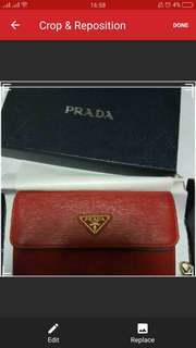 Authentic Prada Saffiano Wristlet Wallet 1M1438