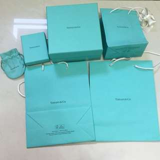 Tiffany Paper Bags, Box 大細紙袋紙盒全新