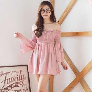 NEW Wrinkle Pink Dress Bangkok Stuff