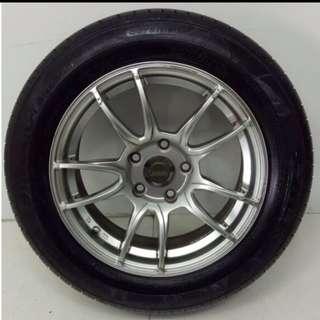 """16"""" Sport Rim With Tyre 5X114.3 SR800"""