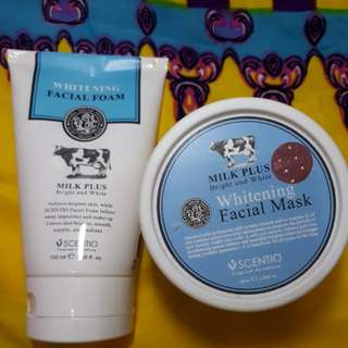 Whitening Milk Facial Mask dan foam