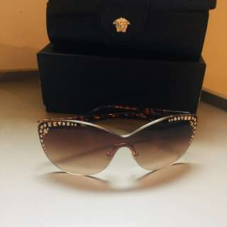 Versace rimless sunglasses