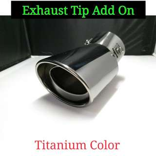 Exhaust Tip Add On For Car (Titanium Color)