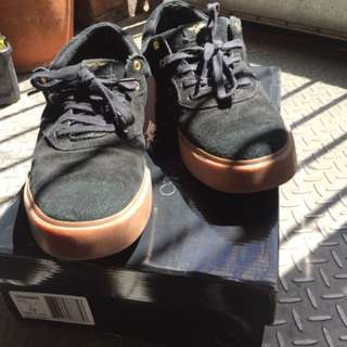 Creative recreation black suede shoes US 12