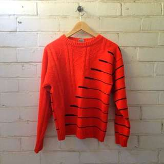 Vintage Orange Sweater