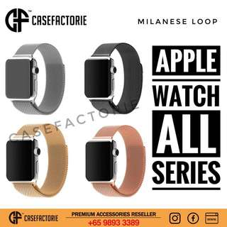 Casefactorie 42/38mm Apple Watch 3/2/1 Milanese Loop Band Strap