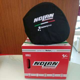 Helmet Nolan n104a black with design. XL size