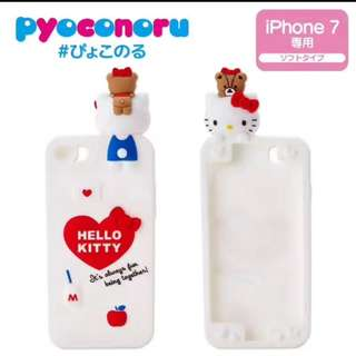 Iphone hello kitty吉蒂趴趴手機殼卡通